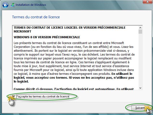 personnaliser l'installation de Windows 8
