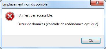 recherche erreur disque dur